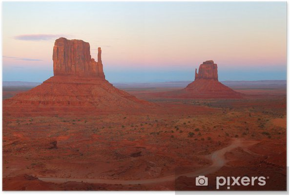 Poster Les mitaines en Monument Valley Utah - Amérique