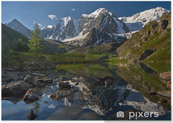 Poster Les montagnes de l'Altaï - Montagne