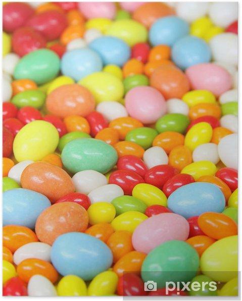 Poster Les oeufs de sucre colorés - Fêtes internationales