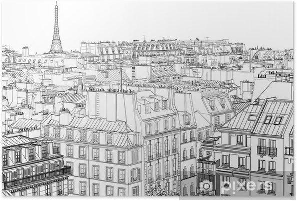 Poster Les toits de Paris - Styles