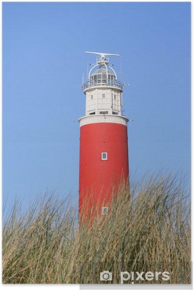 Poster Leuchtturm Texel - Vuurtoren