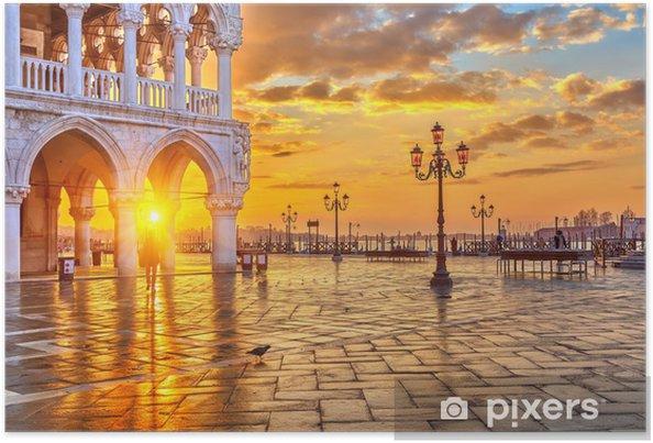 Poster Lever de soleil à Venise - Thèmes