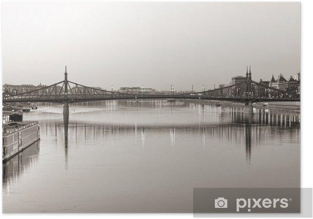 liberty bridge, budapest Poster - Europe
