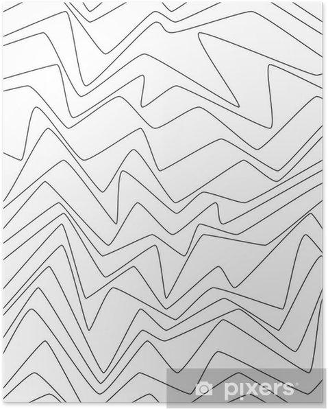 Poster Lignes minimales de répétition sans soudure strpes abstraites papier textile modèle de tissu - Ressources graphiques
