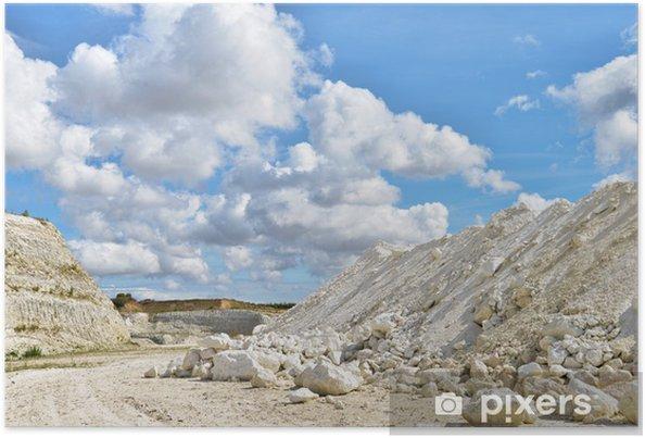 Limestone quarry in Faxe, Denmark Poster