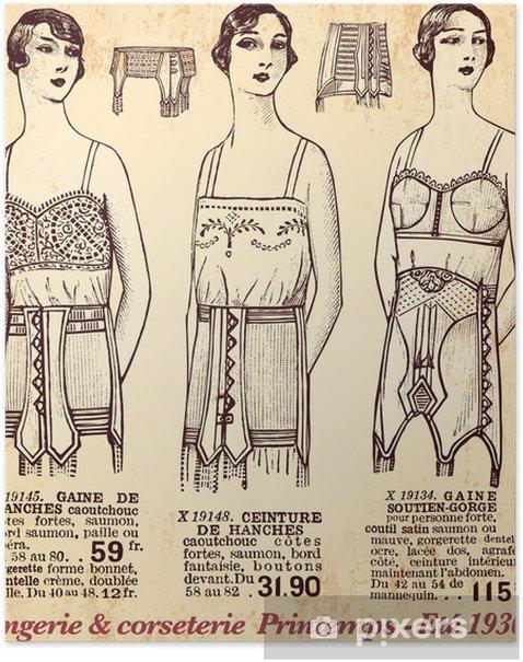 lingerie & corseterie Poster - Textures