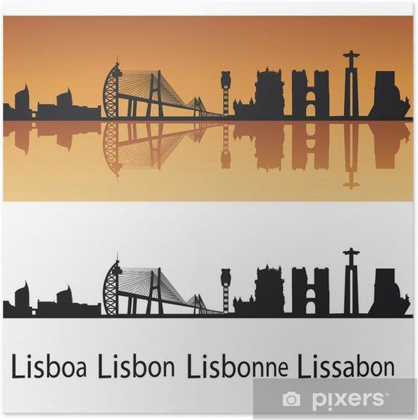 Póster Lisboa horizonte - Ciudades europeas