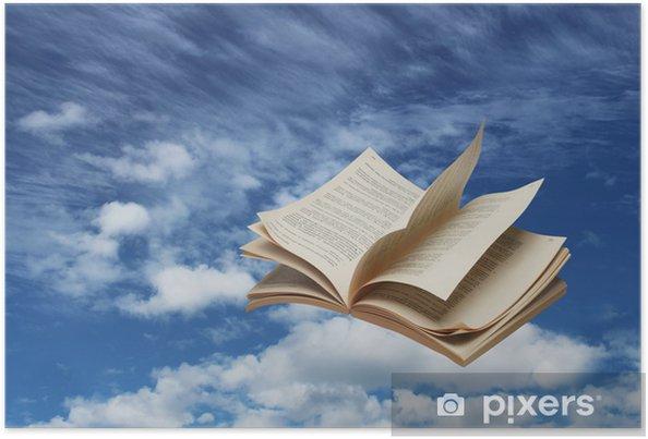Poster Livre Ouvert Sur Le Ciel Bleu Vol