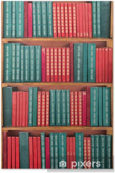 poster livres sur le plateau rouge et vert papier peint pixers nous vivons pour changer. Black Bedroom Furniture Sets. Home Design Ideas