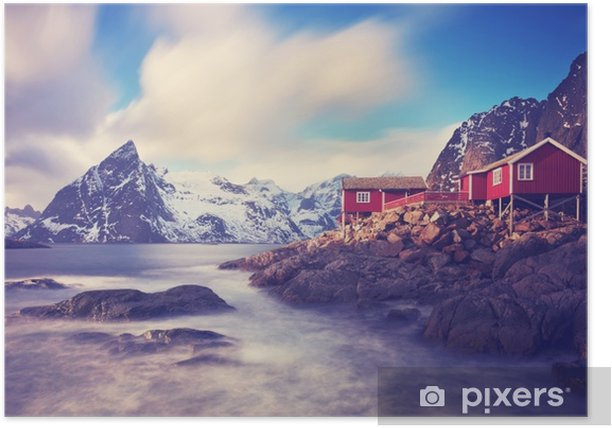 Lofoten im Winter Poster - Landscapes