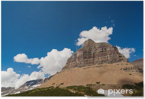 Poster Logan passe paysage de montagne dans le parc national de Glacier - Amérique