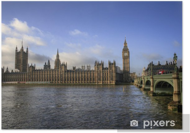 London - Big Ben / Houses of Parliament Poster - European Cities
