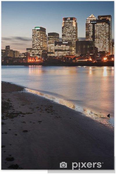 Poster London City horizon général la nuit - Paysages urbains