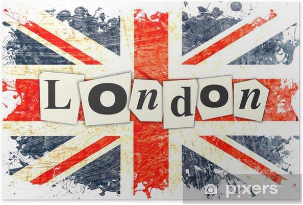 Poster LONDON ENGLISH FLAG - Teman