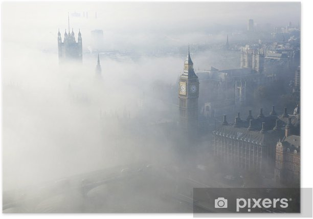 London in heavy fog Poster - Themes