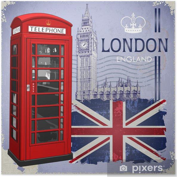 Poster London - Europese steden