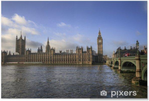 Poster Londres - Big Ben / Chambres du Parlement - Villes européennes