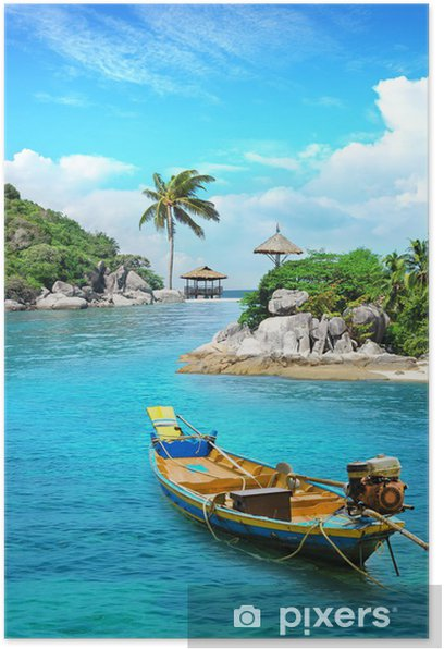 Longtail boat in paradise Poster - Holidays