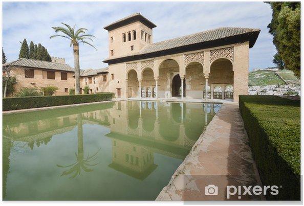 Póster Los jardines del Partal de la Alhambra en Granada - Europa