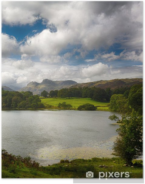 Loughrigg Tarn in Lake District Poster - Europe