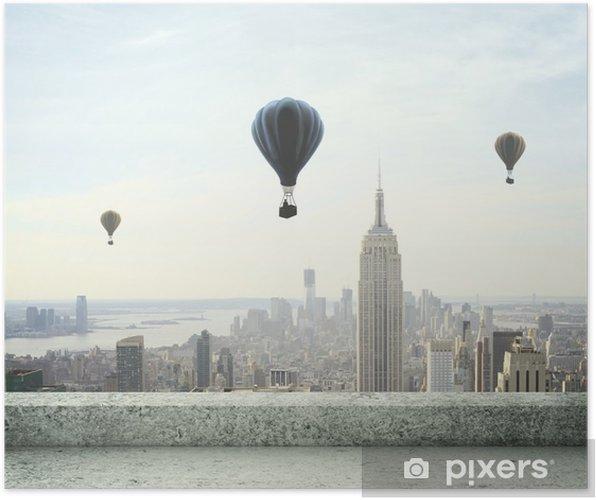 Poster Luchtballon op hemel - Thema's