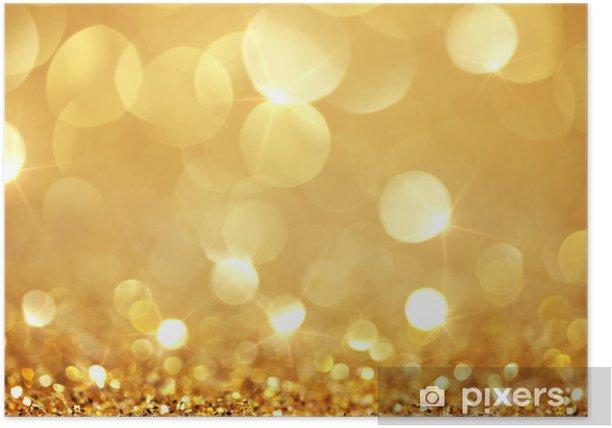 Poster Lumières dorées brillantes - Destin