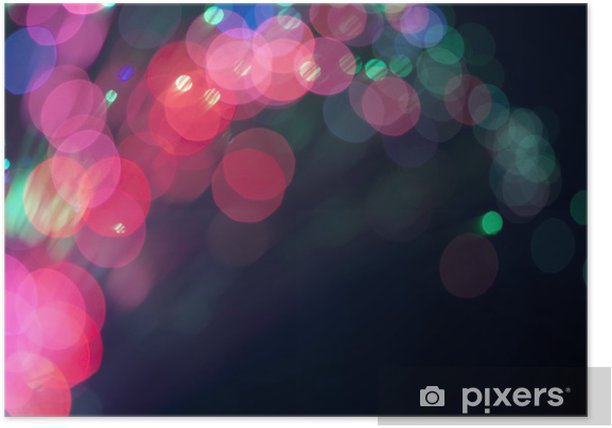 Poster Lumières et cercles de fête. Fond de Noël - Fêtes internationales