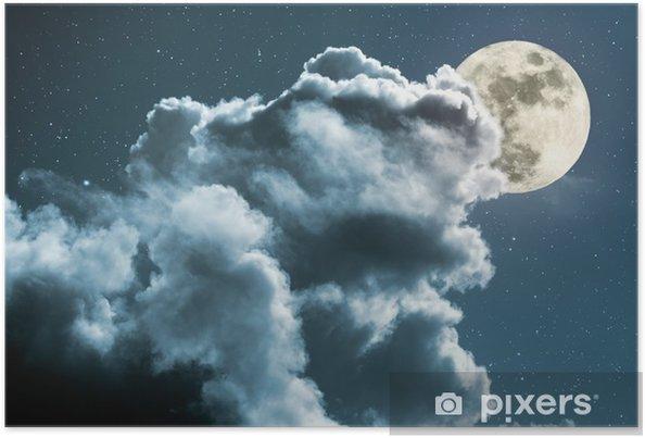 Poster Lune pleine nuit - Thèmes