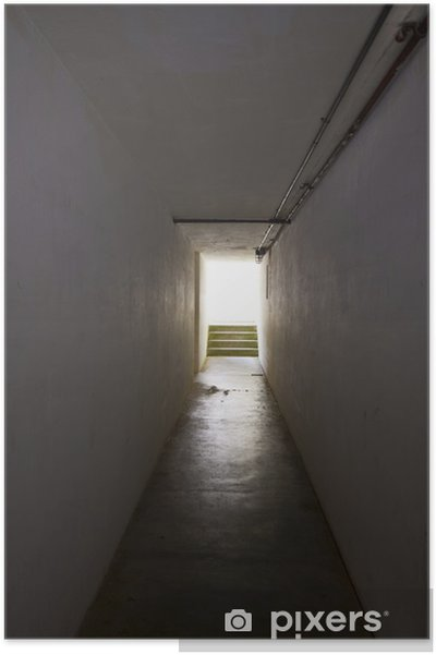 Póster Luz al final del túnel. - Construcciones públicas