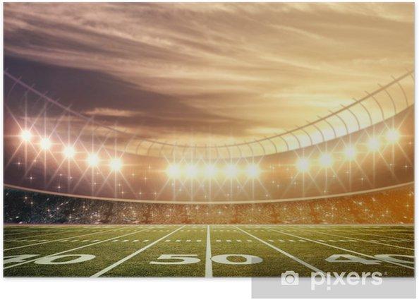Póster Luz del Estadio - Fútbol Americano