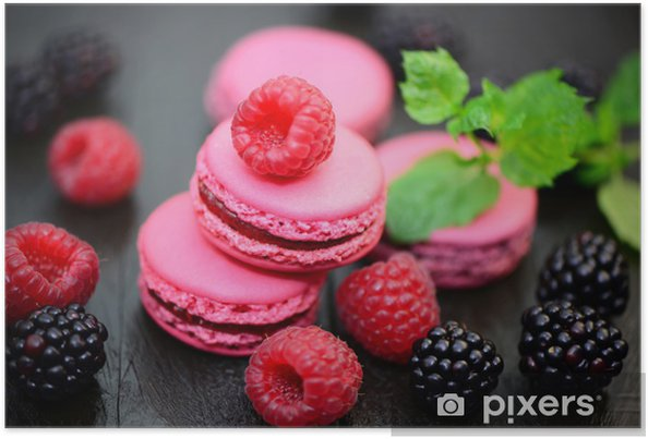 Póster Macarons - Dulces y postres