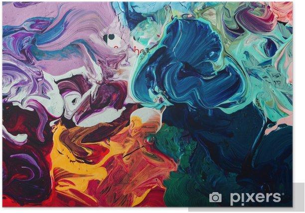 Poster Macro Gros Plan De Peinture A L Huile De Couleur Differente Acrylique Colore Concept D Art Moderne Pixers Nous Vivons Pour Changer