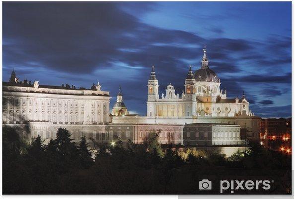 Poster Madrid, la cathédrale Almudena et le Palais Royal - Espagne - Thèmes