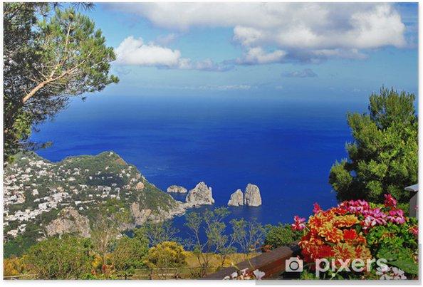 Poster Magnifique île de Capri, série bella Italia - Thèmes
