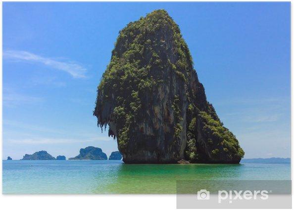 Poster Magnifique île tropicale en Thaïlande - Îles