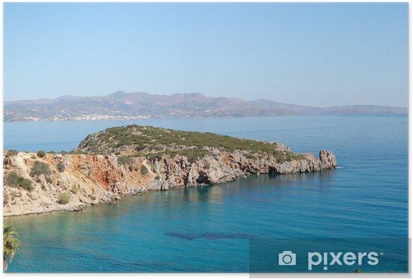 Poster Magnifique lagon turquoise et la mer Egée, Crète, Grèce - Vacances