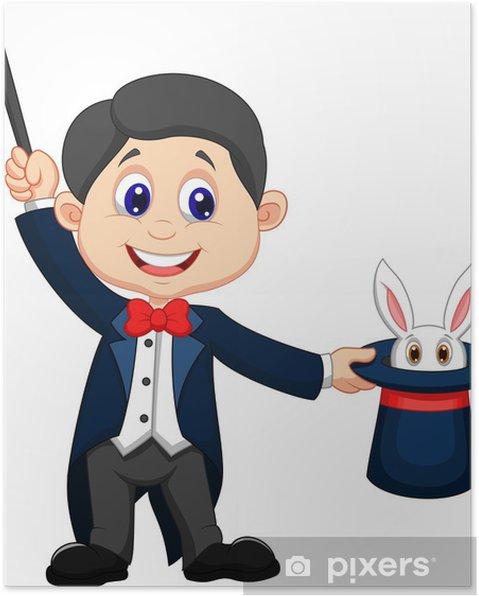 Póster Mago sacando un conejo de su sombrero de copa • Pixers ... caa9a19d55d