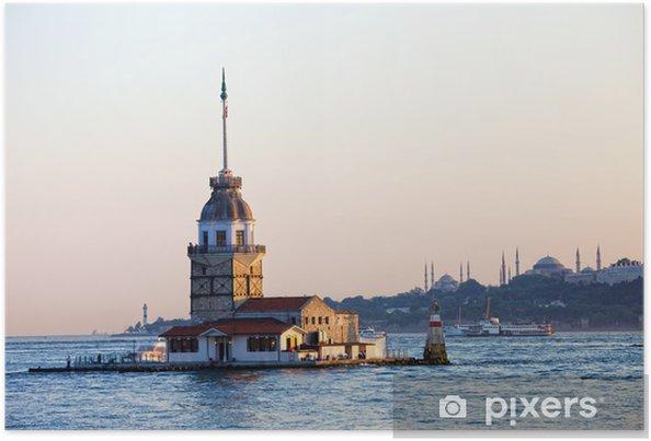 Poster Maiden toren in Istanbul - Midden Oosten