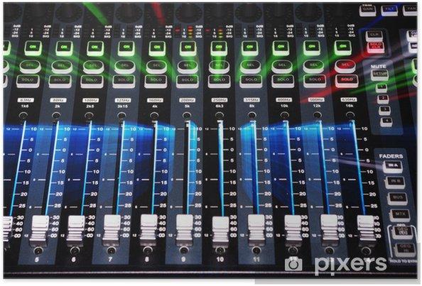 Poster Main Board Mixer Sound System avec Zoom éclat de lumière - Divertissements