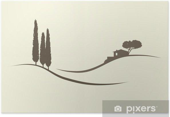 Poster Maison de cyprès - Europe