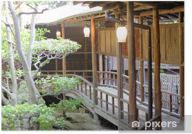 Poster Maison japonaise - Asie