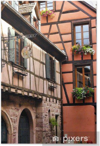 Poster Maisons alsaciennes - Maisons et jardins