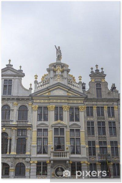 Poster Maisons des corporations sur la Grand-Place à Bruxelles, en Belgique. - Villes européennes