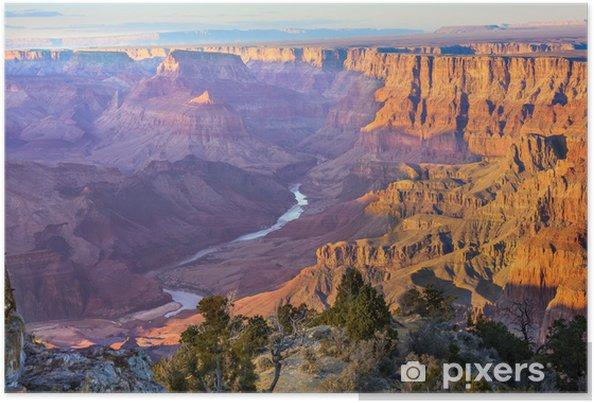 Poster Majestic Vista i Grand Canyon på skymningen - Teman