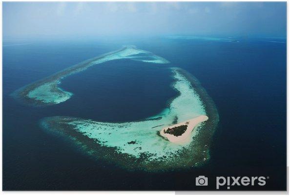 Poster Maldives aérienne 3 - Vacances