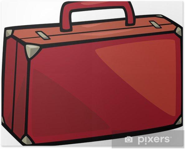 403364bbf Póster Maleta clip de dibujos animados arte • Pixers® - Vivimos para ...