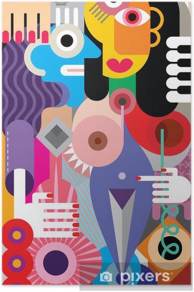 Poster Man en vrouw -