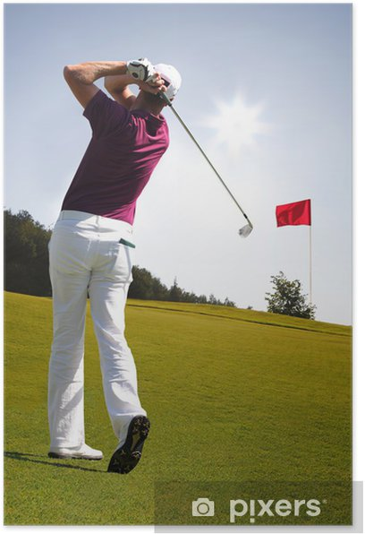 Man playing golf Poster - Golf