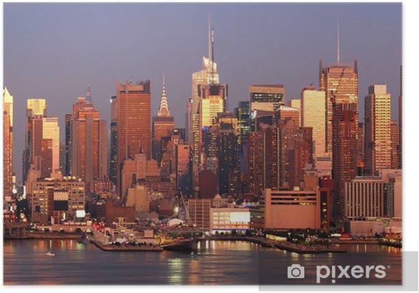 Poster Manhattan coucher du soleil - Amérique