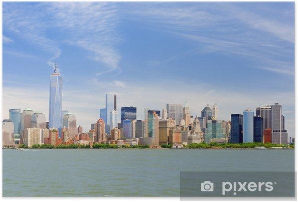 Poster Manhattan en un jour nuageux juin - Villes américaines